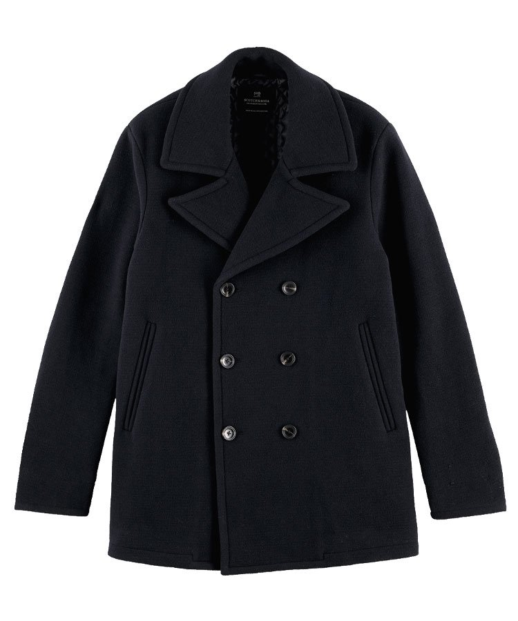 Classic double-breasted peacoat / ネイビー [292-21101]