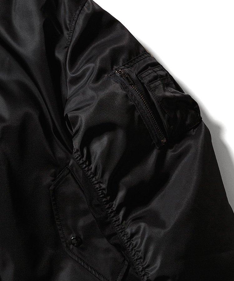 NYLON & DENIM BOMBER JKT / ブラック(BLK) [2011-9002]