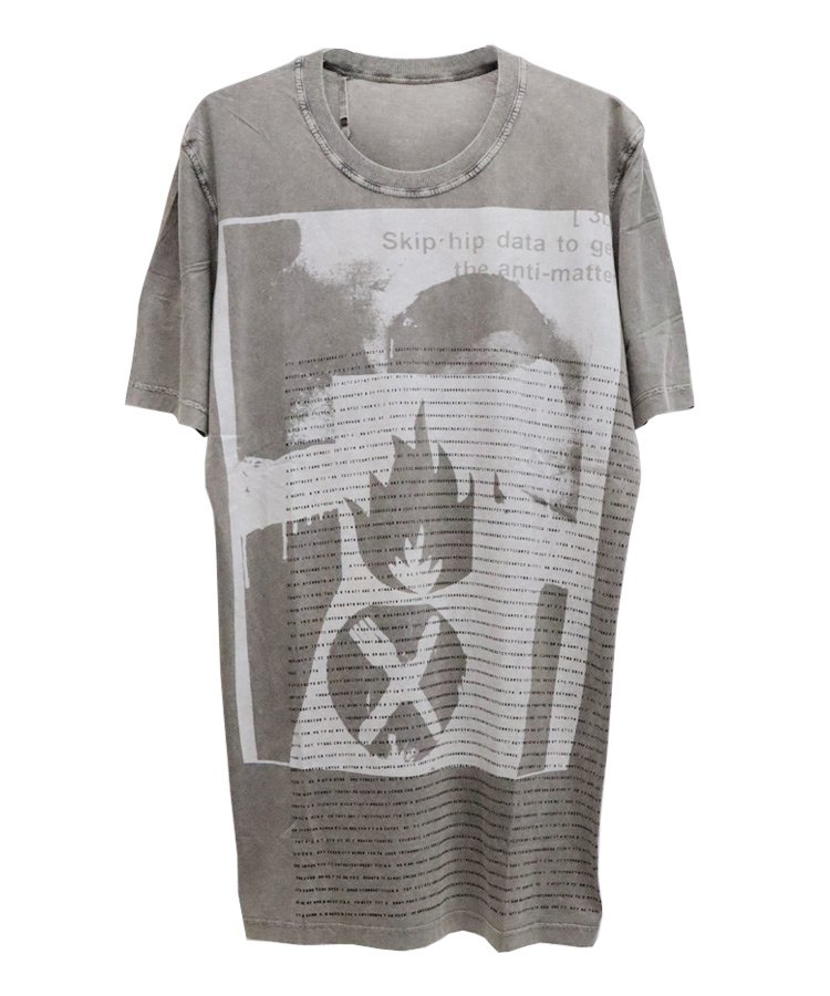 11xMASSIVE ATTACK LUNCH SHORT SLEEVE TEE / アシッドグレー [TS5 F-1101 LUNCH]