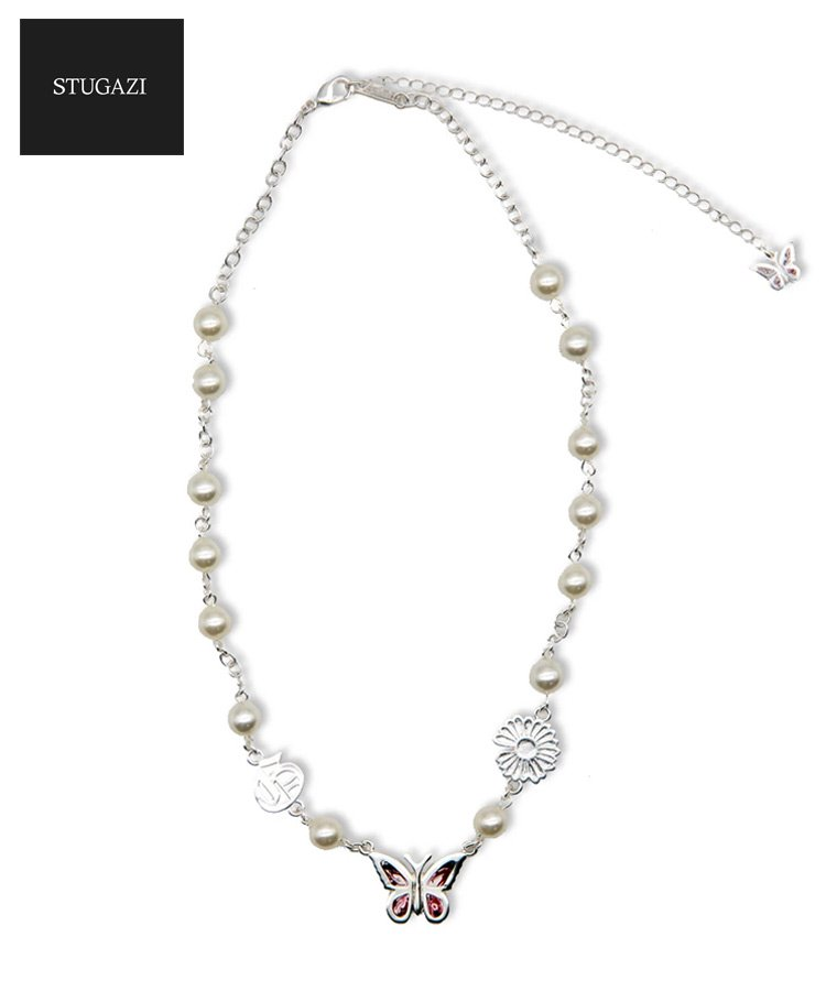 <img class='new_mark_img1' src='https://img.shop-pro.jp/img/new/icons5.gif' style='border:none;display:inline;margin:0px;padding:0px;width:auto;' />Great Days Butterfly Angel Necklace / ホワイト×レッド