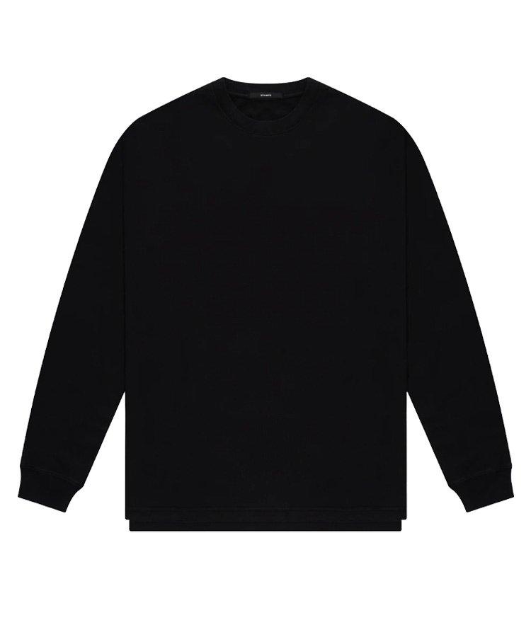 LS DOUBLE LAYER TEE / ブラック [SLA-M2485LT]