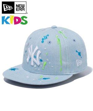 Kid's Youth 9FIFTY ニューヨーク・ヤンキース スプラッシュエンブロイダリー / ウォッシュドデニム [12654162]