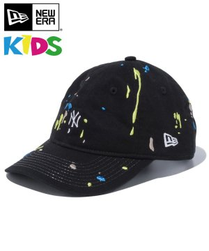Kid's Youth 9TWENTY ニューヨーク・ヤンキース スプラッシュエンブロイダリー ミニロゴ / ブラック [12654217]