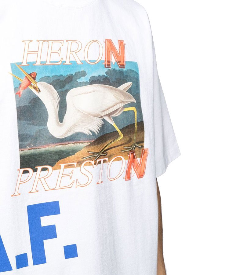 SS T-SHIRT ES OS HERON A.F. / ホワイト [HMAR21-008]