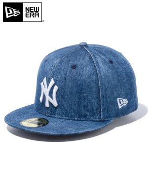 59FIFTY ニューヨーク・ヤンキース / ウォッシュドデニム × スノーホワイト [12326410]