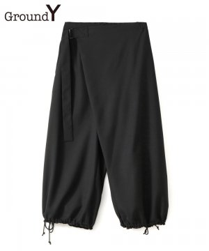 T/W Gabardine Thai style Balloon Pants / ブラック [GT-P05-100-1-01]
