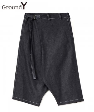 6oz Denim Wrap Short Pants / ブルー [GT-P10-009-1-03]