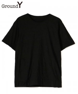 <img class='new_mark_img1' src='https://img.shop-pro.jp/img/new/icons5.gif' style='border:none;display:inline;margin:0px;padding:0px;width:auto;' />C/Pe Washer Jersey Hem Docking Short Sleeves Cut Sew / ブラック [GT-T02-012-2-03]