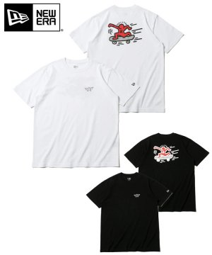 <img class='new_mark_img1' src='https://img.shop-pro.jp/img/new/icons61.gif' style='border:none;display:inline;margin:0px;padding:0px;width:auto;' />半袖 コットン Tシャツ Keith Haring キース・へリング スケートボード レギュラーフィット / 2カラー