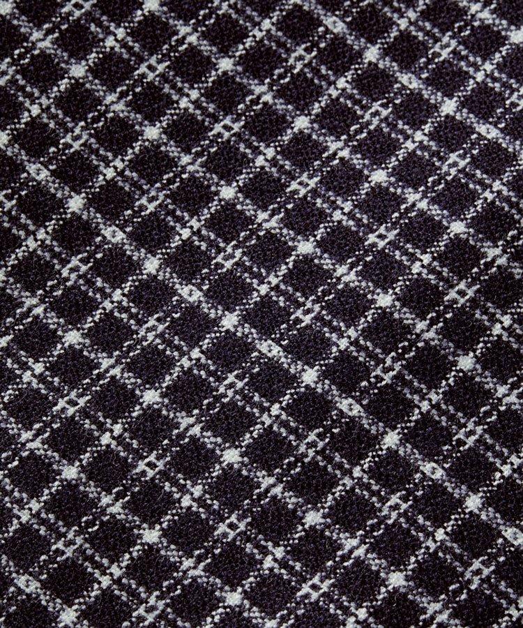 Wool-blend shawl collar over shirt / ネイビー [292-31418]