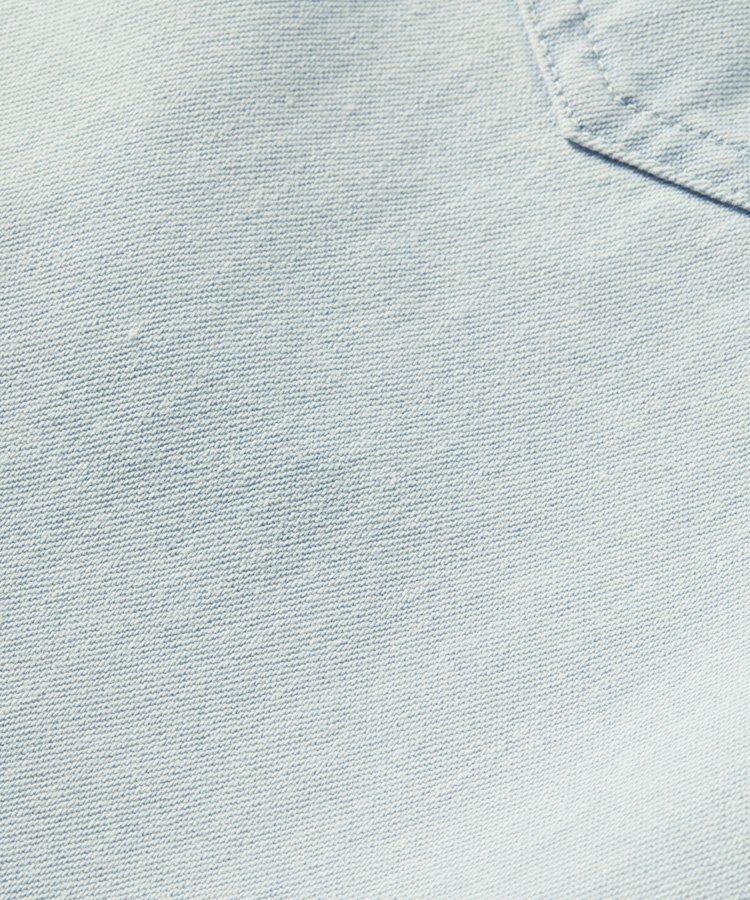 Button-down organic cotton western shirt / ブリーチインディゴ [292-31425]