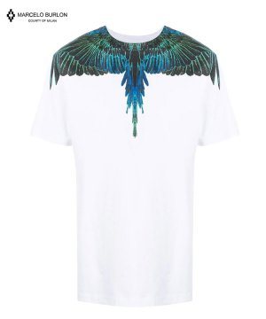 WINGS REGULAR T-SHIRT / ホワイト×ブルー [CMAR21-001]
