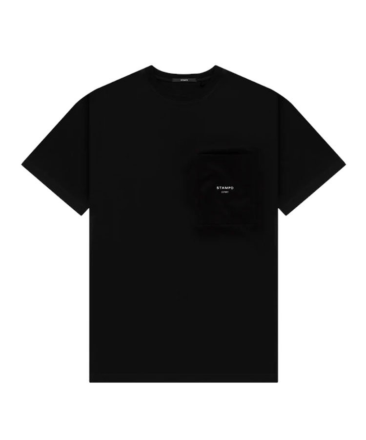 SSPORT LOGO POCKET TEE / ブラック [SLA-M2616TE]