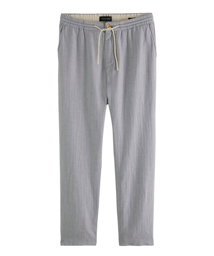 Fave linen & organic cotton-blend beach trousers / シーサイドブルー[292-31513]