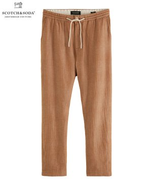 Fave linen & organic cotton-blend beach trousers / タバコ [292-31513]
