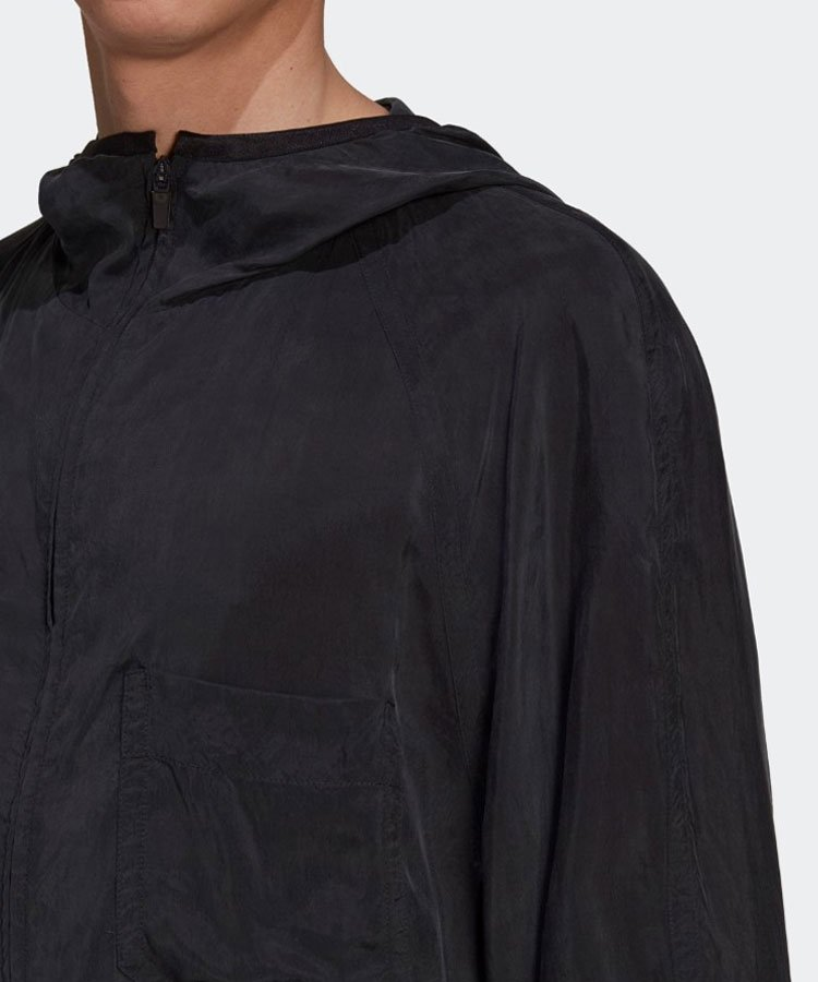 M SHADE SANDED CUPRO HOODED TOP / ブラック [GT5261]