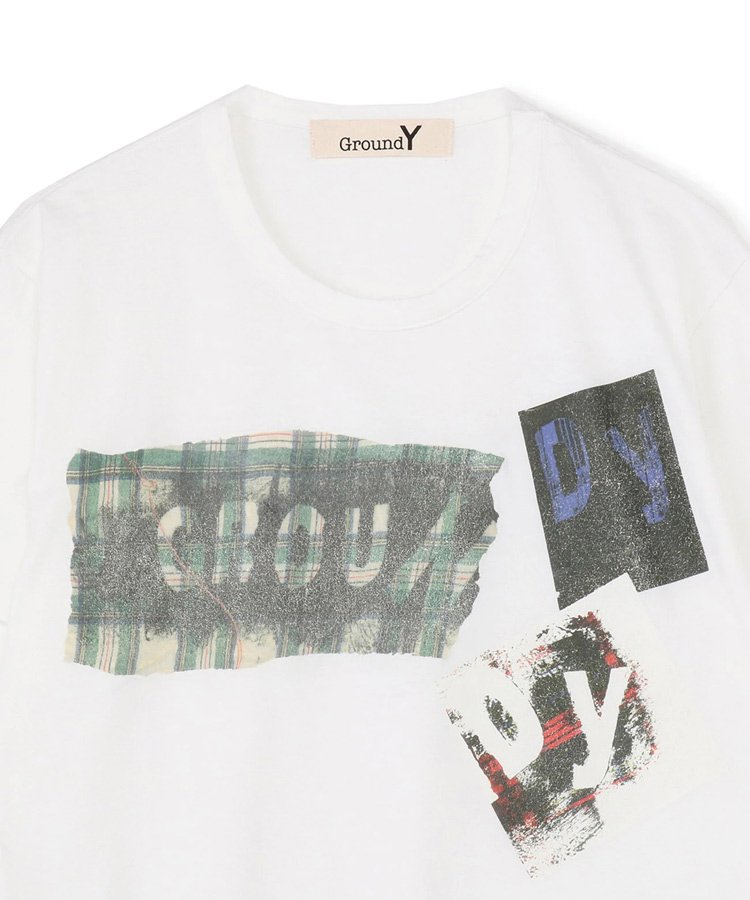 Check & Message Graphic Logo White x Green Plaid / ホワイト [GT-T33-015-1-02]
