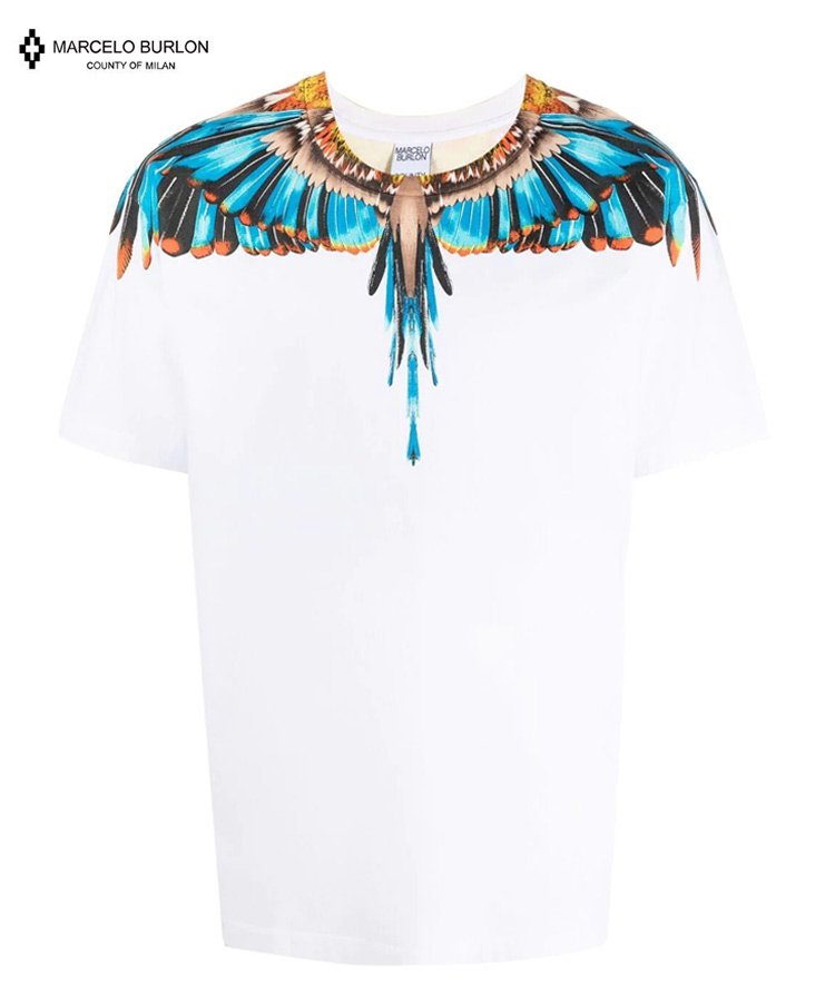 <img class='new_mark_img1' src='https://img.shop-pro.jp/img/new/icons5.gif' style='border:none;display:inline;margin:0px;padding:0px;width:auto;' />GRIZZLY WINGS REGULAR TEE / ホワイト×ライトブルー [CMAS21-005]