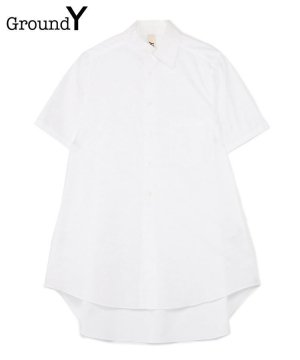<img class='new_mark_img1' src='https://img.shop-pro.jp/img/new/icons5.gif' style='border:none;display:inline;margin:0px;padding:0px;width:auto;' />100/2 Cotton Broad Collar Cutoff Short Sleeves Shirt / ホワイト [GT-B10-001-1-01]
