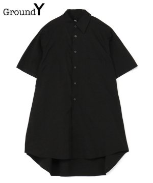 <img class='new_mark_img1' src='https://img.shop-pro.jp/img/new/icons5.gif' style='border:none;display:inline;margin:0px;padding:0px;width:auto;' />100/2 Cotton Broad Collar Cutoff Short Sleeves Shirt / ブラック [GT-B10-001-2-01]