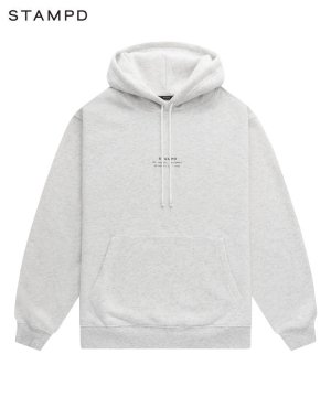 STACKED LOGO PULLOVER HOODIE / オートミール [SLA-M2715HD]