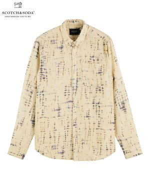 Printed relaxed-fit shirt / ベージュ [282-41422]