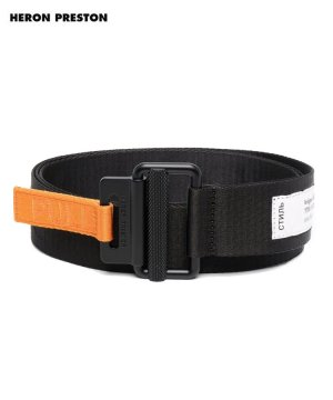 <img class='new_mark_img1' src='https://img.shop-pro.jp/img/new/icons5.gif' style='border:none;display:inline;margin:0px;padding:0px;width:auto;' />TAPE BELT 4CM CLASSIC BUCKLE / ブラック×オレンジ [HMRF21-185]