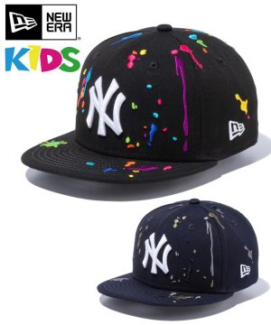 <img class='new_mark_img1' src='https://img.shop-pro.jp/img/new/icons61.gif' style='border:none;display:inline;margin:0px;padding:0px;width:auto;' />Kid's Youth 9FIFTY ニューヨーク・ヤンキース スプラッシュエンブロイダリー / 2カラー