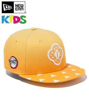 Kid's Youth 9FIFTY 鬼滅の刃 我妻善逸 鍔 / イエローグラデーション [12864394]