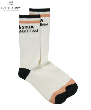 <img class='new_mark_img1' src='https://img.shop-pro.jp/img/new/icons5.gif' style='border:none;display:inline;margin:0px;padding:0px;width:auto;' />Ribbed bamboo-blend socks / ホワイト [282-49909]