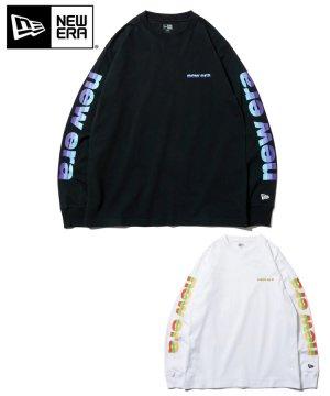 長袖 コットン Tシャツ 3トーンロゴ レギュラーフィット / 2カラー