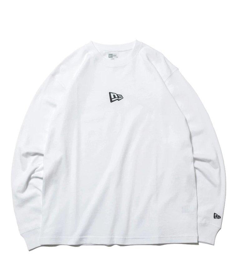 <img class='new_mark_img1' src='https://img.shop-pro.jp/img/new/icons61.gif' style='border:none;display:inline;margin:0px;padding:0px;width:auto;' />長袖 コットン Tシャツ ミニフラッグロゴ レギュラーフィット / 2カラー