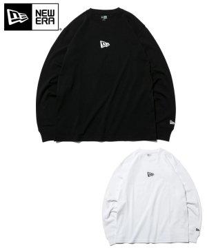 長袖 コットン Tシャツ ミニフラッグロゴ レギュラーフィット / 2カラー