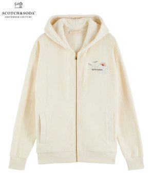 <img class='new_mark_img1' src='https://img.shop-pro.jp/img/new/icons5.gif' style='border:none;display:inline;margin:0px;padding:0px;width:auto;' />Towelling zip-thru organic cotton hoodie / キット [282-43801]