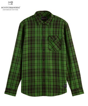 <img class='new_mark_img1' src='https://img.shop-pro.jp/img/new/icons5.gif' style='border:none;display:inline;margin:0px;padding:0px;width:auto;' />Relaxed fit check shirt / グリーン×ブラック [282-41412]