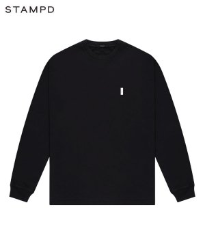 <img class='new_mark_img1' src='https://img.shop-pro.jp/img/new/icons5.gif' style='border:none;display:inline;margin:0px;padding:0px;width:auto;' />BRICK LOGO LS RELAXED TEE / ブラック [SLA-M2737LT]