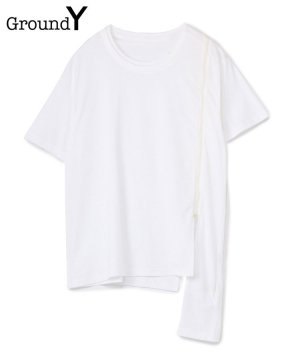 <img class='new_mark_img1' src='https://img.shop-pro.jp/img/new/icons5.gif' style='border:none;display:inline;margin:0px;padding:0px;width:auto;' />30/Cotton Jersey Asymmetric Zipper Short Sleeves Cut Sew / ホワイト [GM-T13-040-1-03]