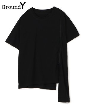<img class='new_mark_img1' src='https://img.shop-pro.jp/img/new/icons5.gif' style='border:none;display:inline;margin:0px;padding:0px;width:auto;' />30/Cotton Jersey Asymmetric Zipper Short Sleeves Cut Sew / ブラック [GM-T13-040-3-03]