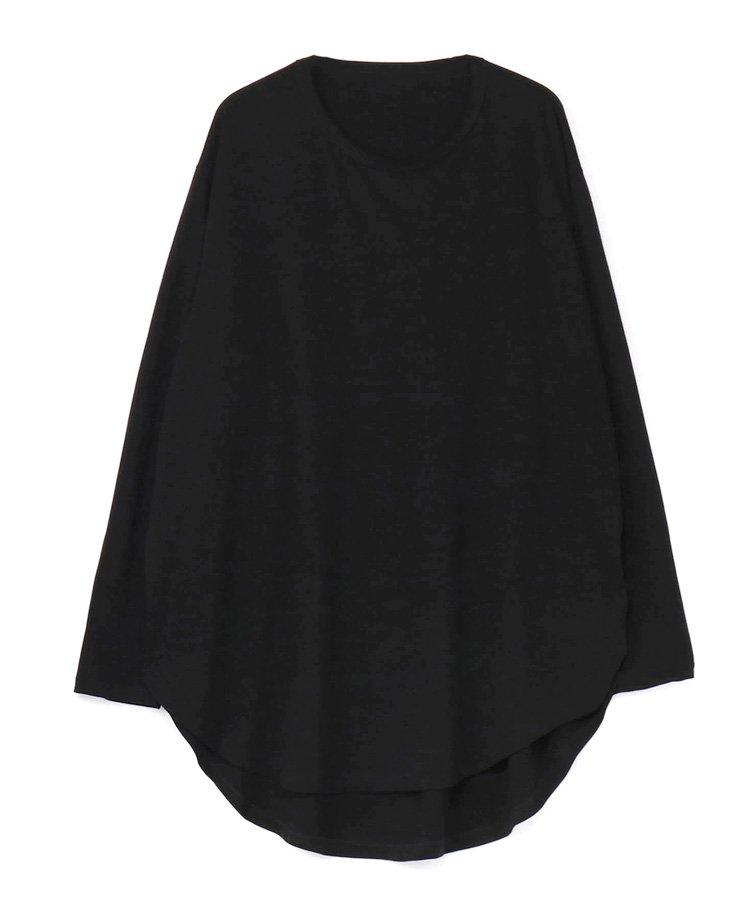 30/Cotton Jersey Jumbo Round Long Sleeves Cut Sew / ブラック [GM-T15-040-3-03]