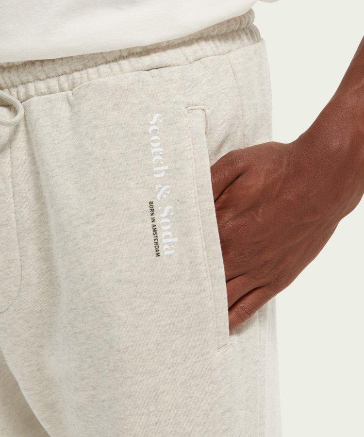 Unisex organic cotton  sweatpants / グレーメランジ [292-43550]
