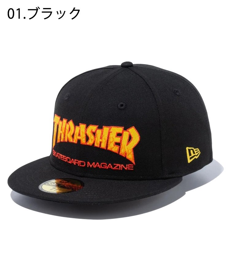 <img class='new_mark_img1' src='https://img.shop-pro.jp/img/new/icons61.gif' style='border:none;display:inline;margin:0px;padding:0px;width:auto;' />59FIFTY THRASHER マガジンロゴ / 2カラー