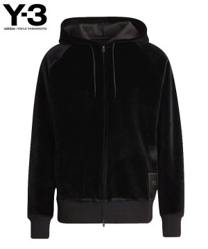 <img class='new_mark_img1' src='https://img.shop-pro.jp/img/new/icons5.gif' style='border:none;display:inline;margin:0px;padding:0px;width:auto;' />Y-3 U SQUARE VELVET SPACER FULL-ZIP HOODIE / ブラック [HB3341]