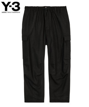 <img class='new_mark_img1' src='https://img.shop-pro.jp/img/new/icons5.gif' style='border:none;display:inline;margin:0px;padding:0px;width:auto;' />Y-3 M CLASSIC WOOL FLANNEL CARGO PANTS / ブラック [HB3391]