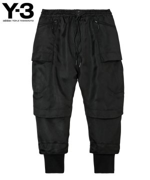 <img class='new_mark_img1' src='https://img.shop-pro.jp/img/new/icons5.gif' style='border:none;display:inline;margin:0px;padding:0px;width:auto;' />Y-3 M CLASSIC TECH TWILL CARGO PANTS / ブラック [HB3433]