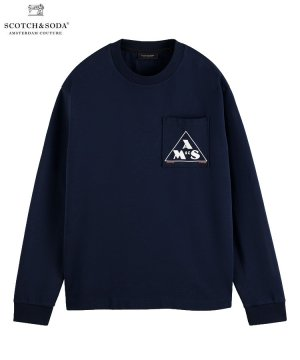 <img class='new_mark_img1' src='https://img.shop-pro.jp/img/new/icons5.gif' style='border:none;display:inline;margin:0px;padding:0px;width:auto;' />Graphic long-sleeved T-shirt / ミッドナイト [292-43404]