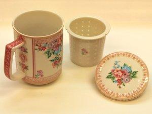 花柄マグカップ ピンク
