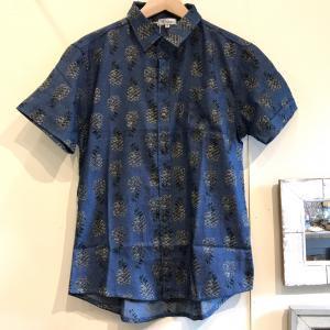 MOANALUオリジナルALOHAシャツ【パイナップル】ネイビー