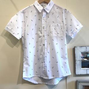 MOANALUオリジナルALOHAシャツ【カモメ】ホワイト