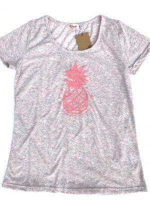 オリジナルAラインTシャツ【パイナップル】ピンク