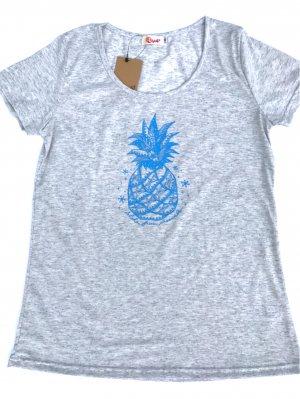 オリジナルAラインTシャツ【パイナップル】ブルー